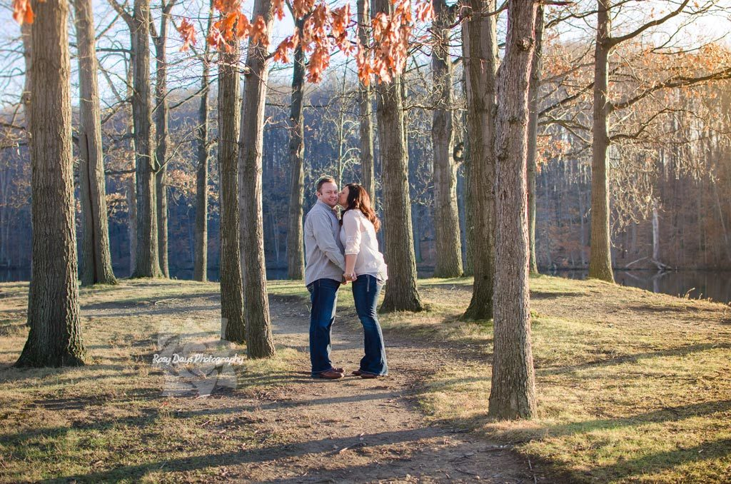 Winter Engagement Session Trees
