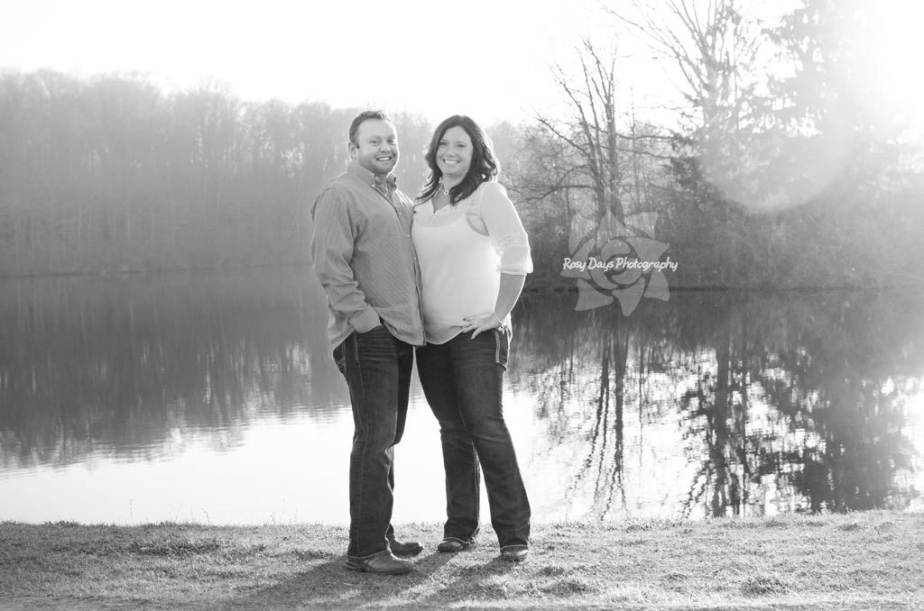 Winter Engagement Session by Lake