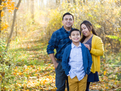 Navy & Yellow Fall Family Portraits