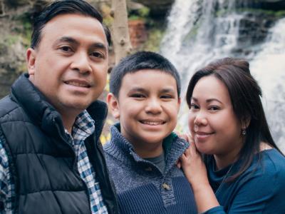 Waterfall Autumn Family Portraits